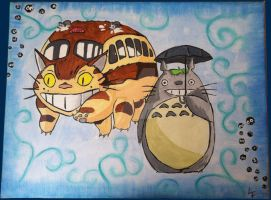 Totoro and Catbus (For Liam) by CemeteryDrive87