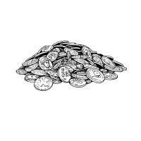 LotFP Pile of Coins by cronevald