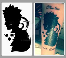 Sasuke and Naruto concept tattoo by Feiuccia