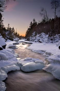 Horse Race Rapids Winter I by FAceleSS-21