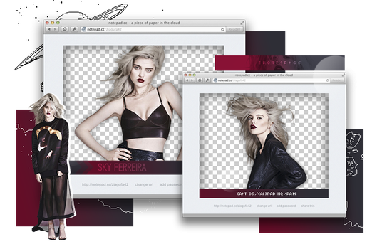 Pack png 925 // Sky Ferreira. by ExoticPngs