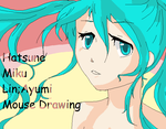 Hatsune Miku MS PAINT MOUSE by KimaLin