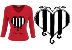 Striped passion model heart by Jasentha