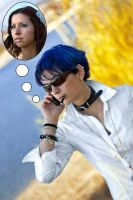 We are talking on phone by lucyamu