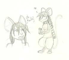 Mouse!Sam doodles~ by Lost-in-Legends
