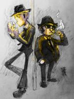 Jake and Elwood by Junyore