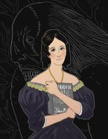Mary Shelley Portrait by Newbeing