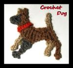 Croched dog brooch by Coccis