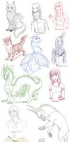 16 sketches for 16 artists -10 by Galidor-Dragon