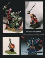 Painted Fantasy Miniatures by Malith2001