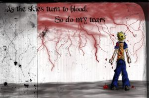 Bloody Skies  --Naruto-- by 104lbOfInsanity