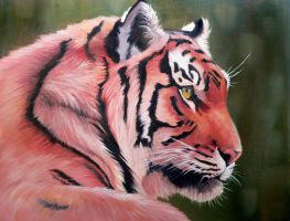 Tiger in Oil by FreedomSparrow3
