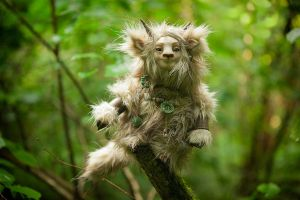 Forest spirit Furrykami Art doll by Furrykami-creatures