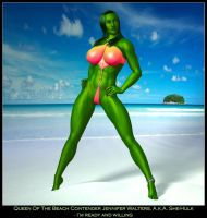 Queen Of The B. - She-Hulk by ExGemini