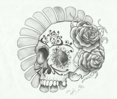 sugar skull by sasan-ghods