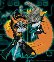 Midna Chibis by Aeridis