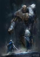 Wood and stone golem by Mac-tire