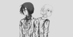 Armin and Mikasa by TheRedAuthor