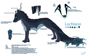 Lochlann Ref Sheet +shortSTORY by Ithfifi