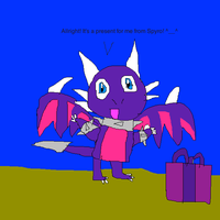 Cynder gets a present form Spyro by imthecutest1238