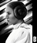 Carrie Fisher by thegameworld