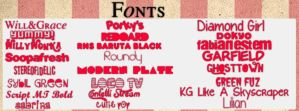 Pack de Fonts by Paayaasitaa