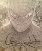 Spider-Man pencil drawing by Lightningflickr
