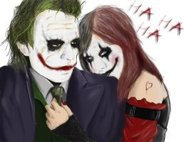 Joker And Harley (darknite) by xWolfie212x
