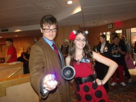Doctor Who Cosplay: Ten and Oswin by KnoppGraphics