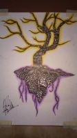 Tree in pen by superveggiecow