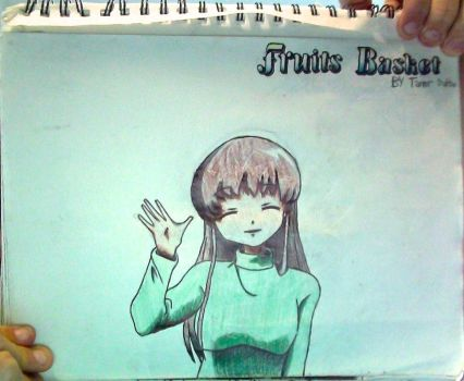 Tohru Honda + FruitsBasket logo drawing(Unflipped) by TannMann64