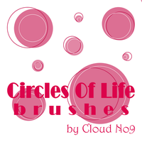 CirclesOfLife Brushes by cloud-no9