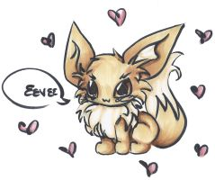 Eevee by Frenchielover4ever