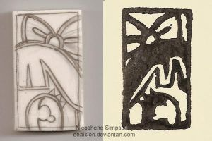 My 1st Rubber Stamp by Enaicioh