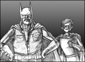 Rowsdower and Troy as Batman and Robin by sagejester