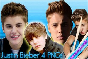 4 PNGs Justin Bieber by pempengcoswift13