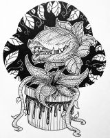 Inktober Day 5 : Little Shop of Horrors by TheDreamer843