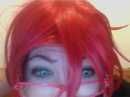 Never let Grell alone with a webcam XD GIF by Madgirls-In-A-Box