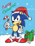 Sonic Christmas Card 2016 by SlySonic