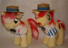 FIM my little pony plush Flim and Flam by eponyart