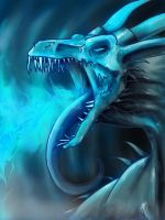 Bob the Ice Dragon by BloodScale