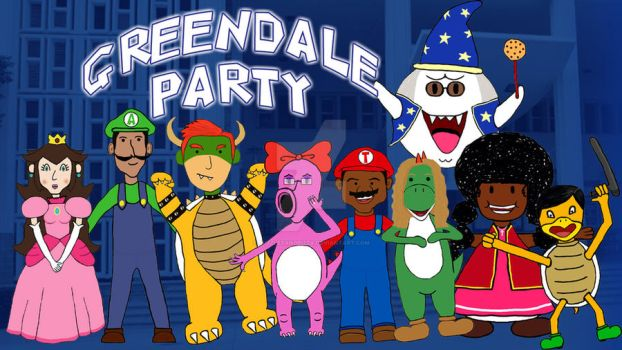 Greendale Party by puzzlesandpizza