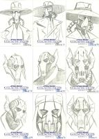 Star Wars Galactic Files 2 Sketch Cards Pt. 3 by DaveStrong