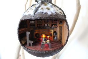 Wind in the Willows Themed Christmas bauble by Jalpon