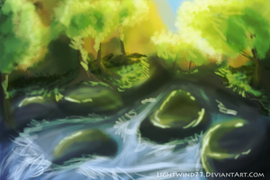 Speed Paint- Forest Creek by dayylights