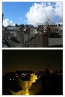 Nantes Rooftops - Day and Night by FL-Jones