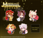 Mystic Messenger Charms double sided by rossomimi