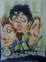 Green Day caricature by marcocano