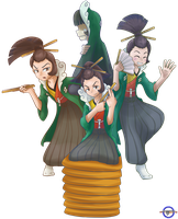 Ace Attorney- The Laughing Typhoon by GamefreakDX