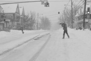 2015 January Blizzard, Snow Football Play by Miss-Tbones